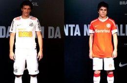 Internacional e Santos kits 2012