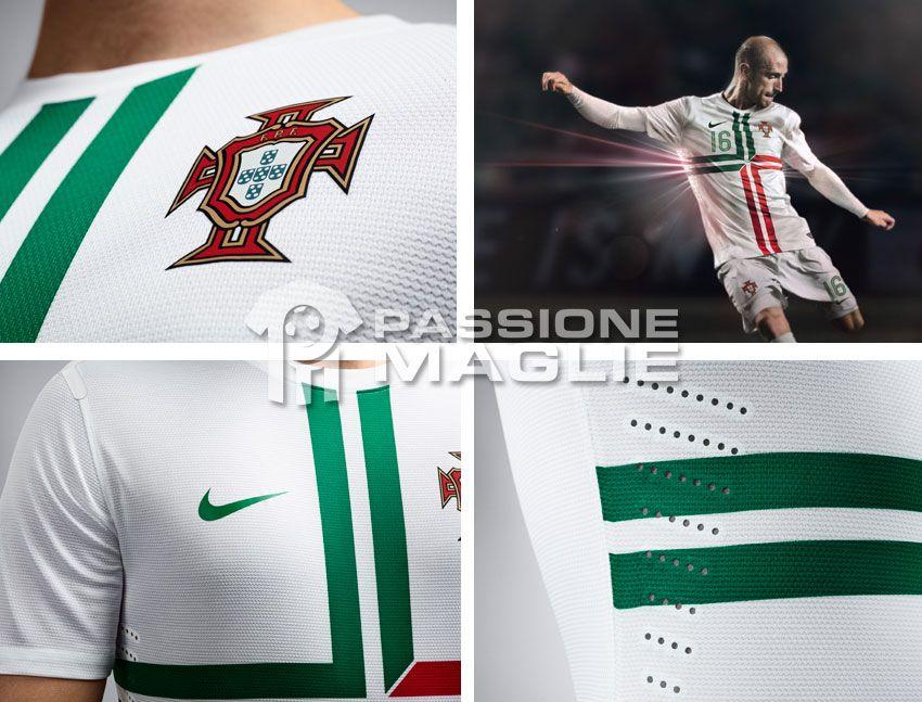 Particolari seconda maglia Portogallo 2012