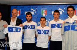 Presentazione seconda maglia Italia 2012