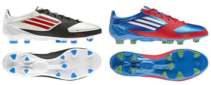 Scarpe da calcio F50 adizero blu/rosso e bianco/nero