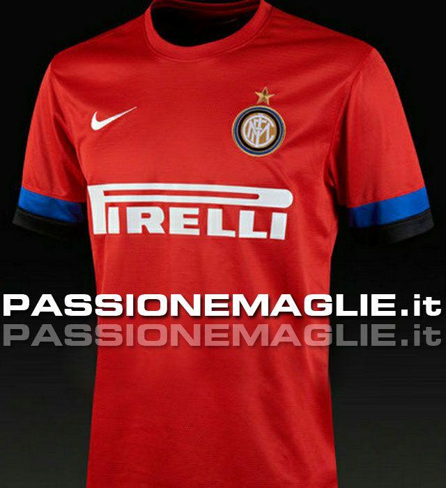 Inter seconda maglia rossa 2012-13 leak