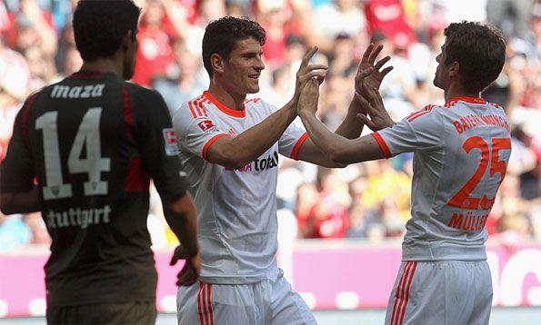 Gol di Gomez in Bayern Monaco-Stoccarda