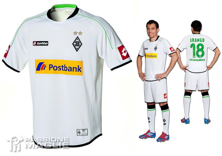 Borussia Mönchengladbach prima divisa Lotto 2012-2013