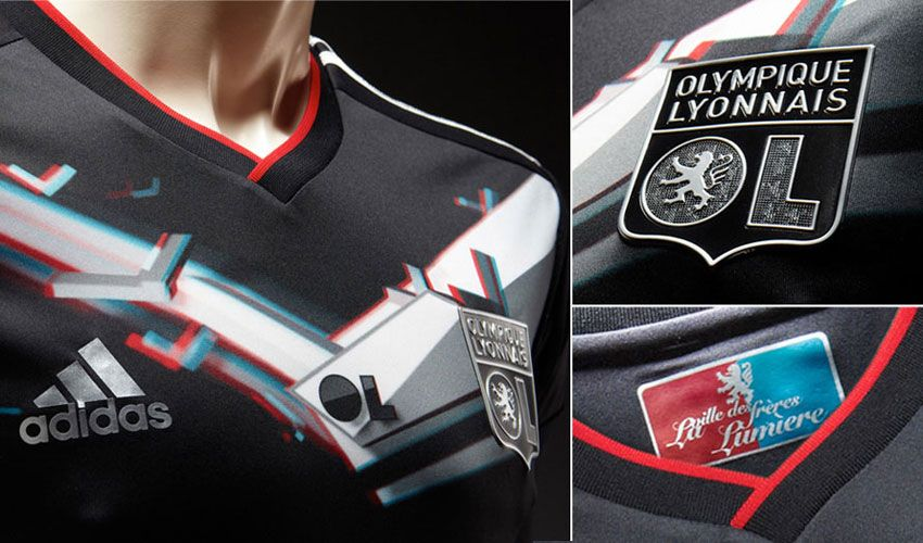 Disegno 3D di adidas maglia Lione