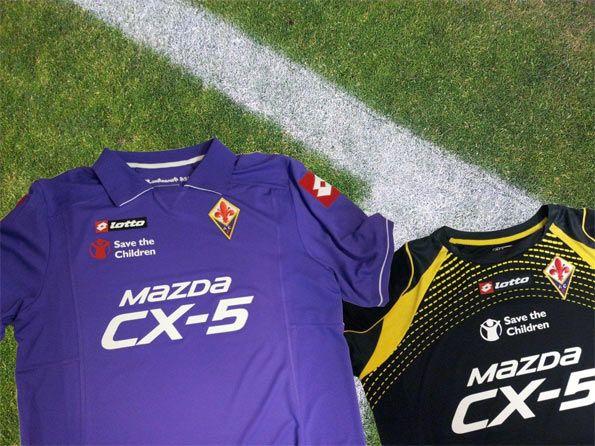 Fiorentina divise con sponsor CX-5 Mazda