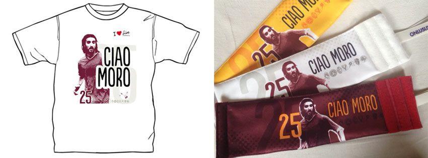 Fasce capitano e t-shirt Live Onlus per Morosini