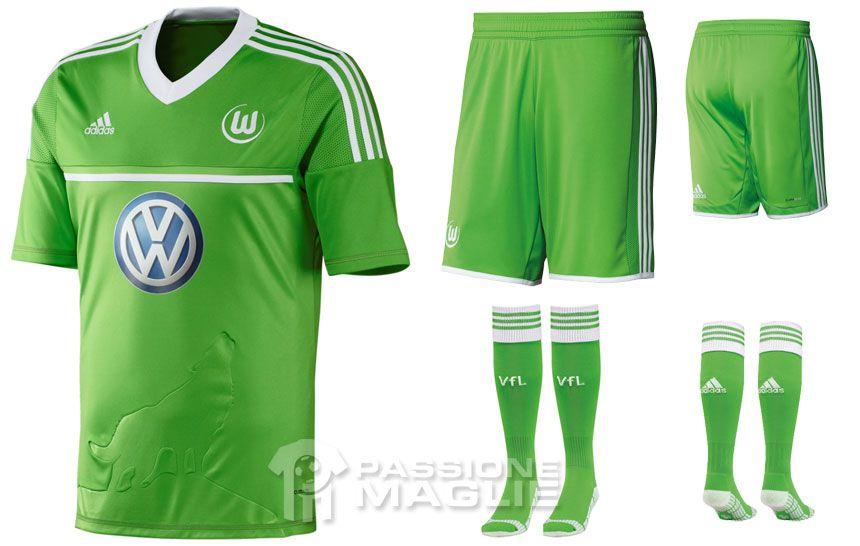 Wolfsburg prima maglia 2012-2013 adidas