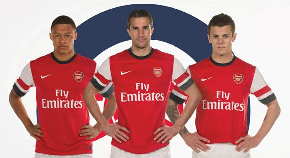 Arsenal kit home 2012-13 Nike