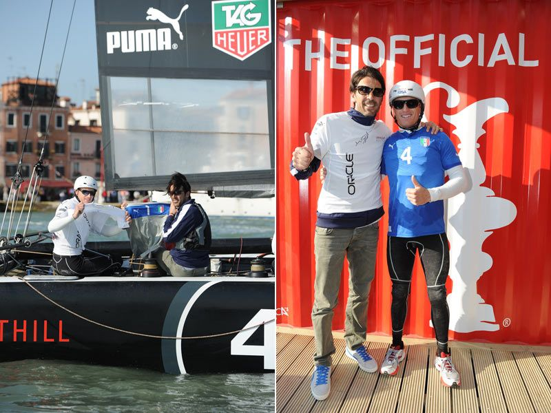 Buffon incontra James Spithill