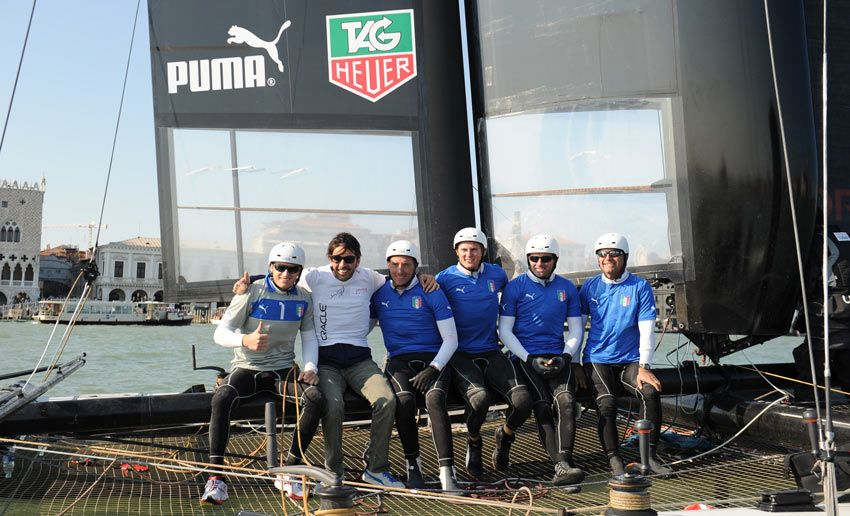 Buffon con il team Oracle
