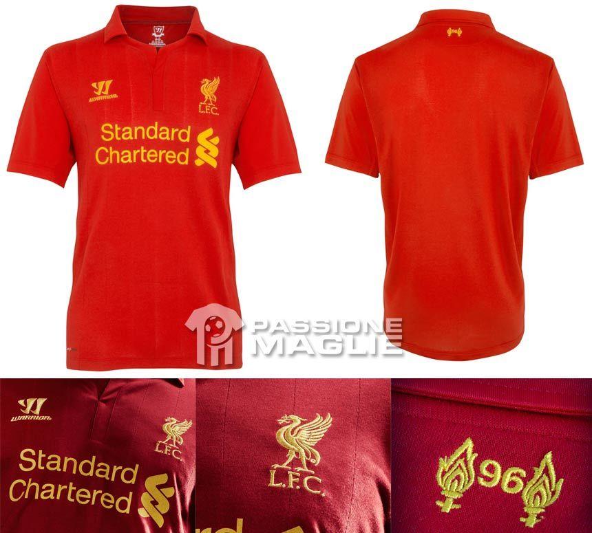 Liverpool prima maglia Warrior 2012-2013