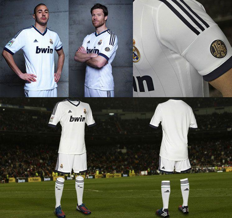 Real Madrid 2012-2013: la nuove maglie celebrano i 110 anni del club