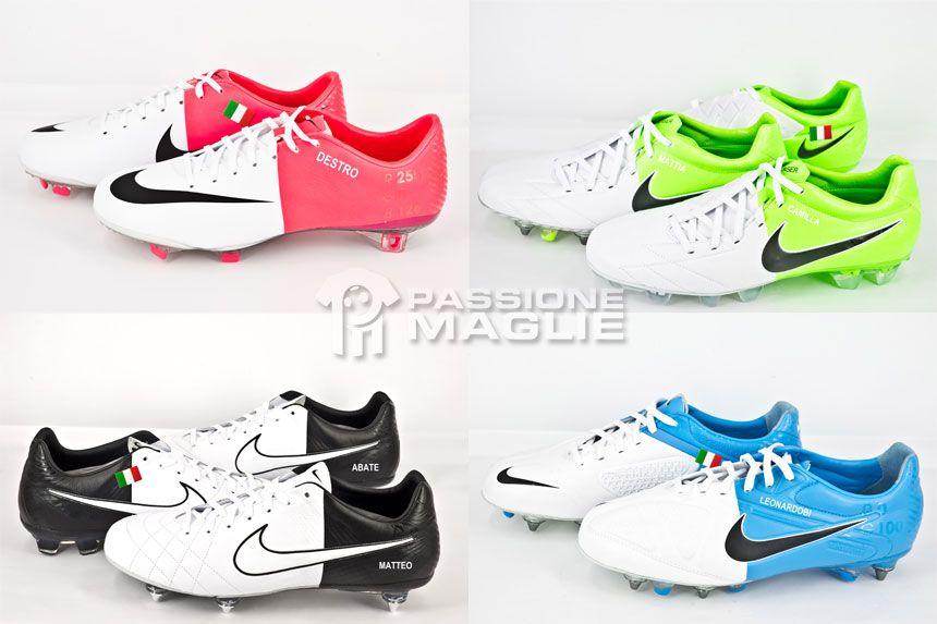 Scarpe Nike di Abate, Bonucci, Barzagli e Destro