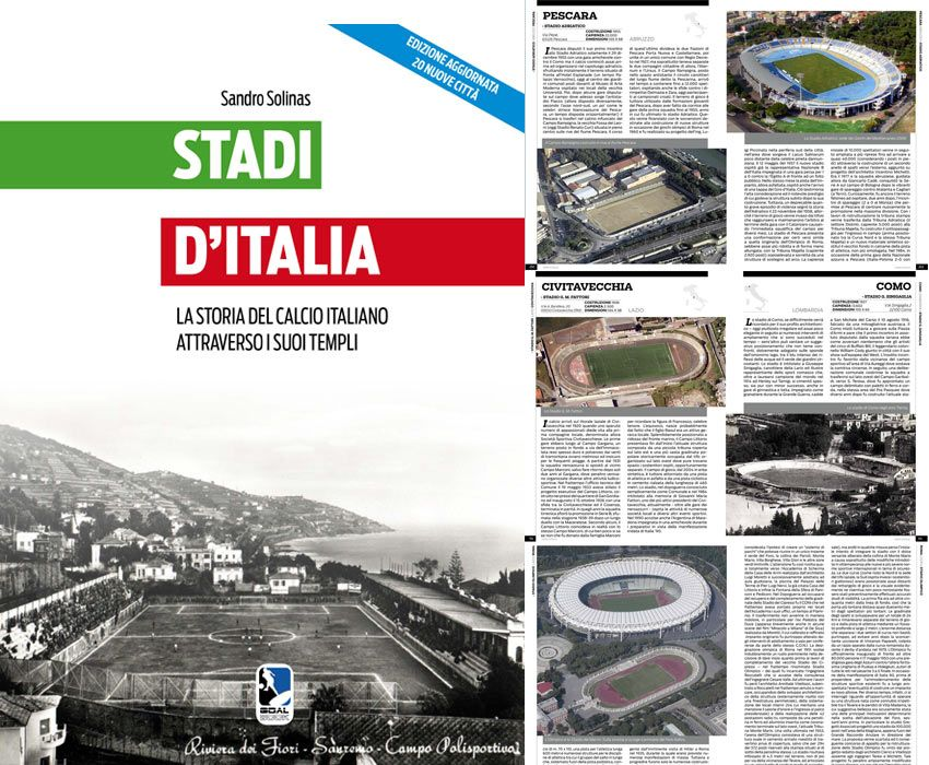 Copertina Stadi d'Italia libro