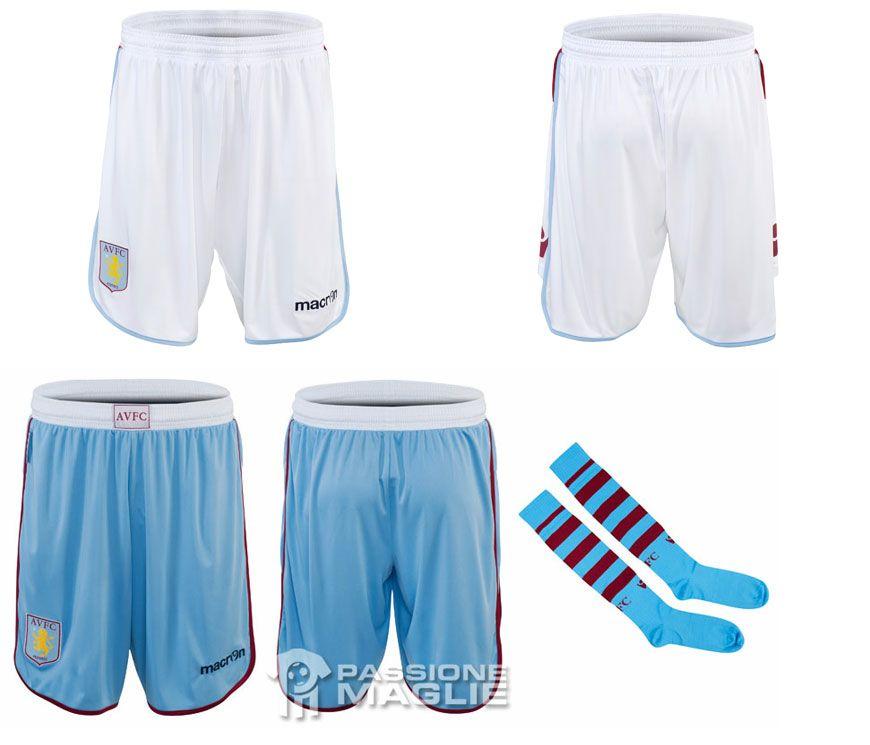 Calzoncini e calzettoni Aston Villa 2012-2013