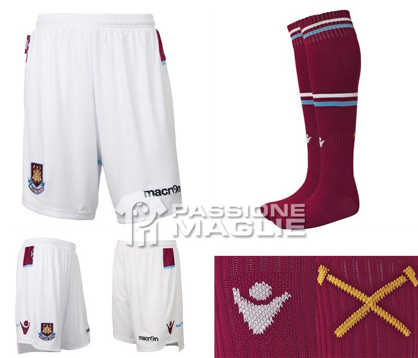 Pantaloncini calzettoni West Ham 2012-2013 Macron