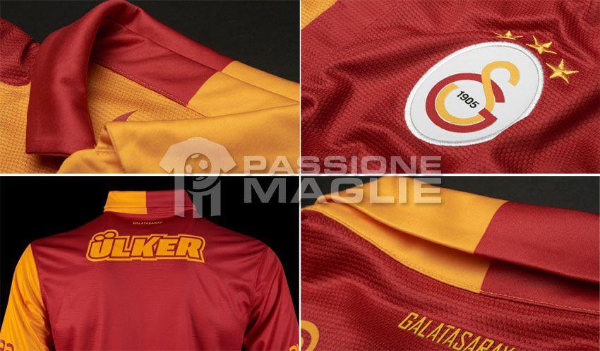 Dettagli Galatasaray 2012-2013 home Nike