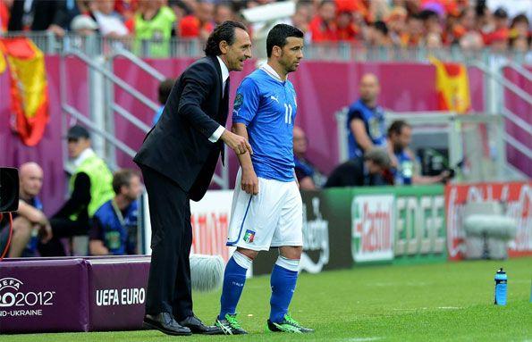 Prandelli e Di Natale a Euro 2012
