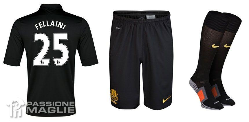 Everton 2012-2013 calzoncini e calzettoni