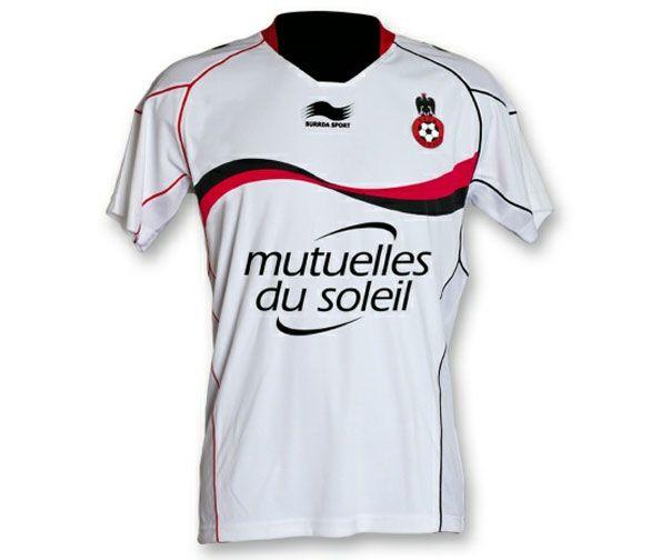 OGC Nizza seconda maglia bianca Burrda
