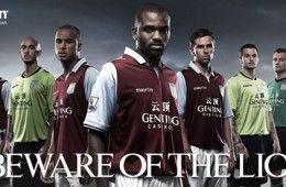 Le divise dell'Aston Villa 2012-2013 Macron