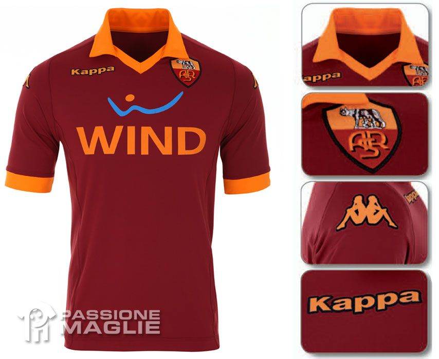 Roma prima maglia Kappa 2012-2013