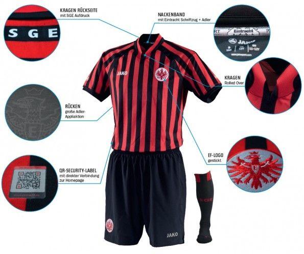 La prima divisa dell'Eintracht 2012-2013