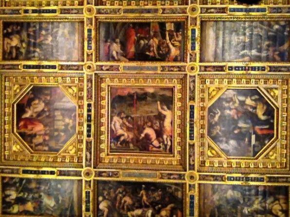 Veduta del soffitto del Salone dei Cinquecento