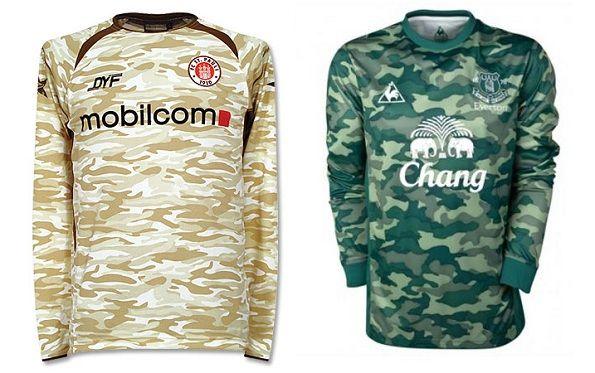 Maglie mimetiche di St.Pauli e Everton