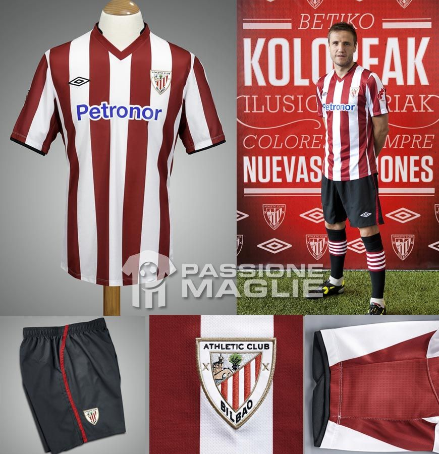 Prima maglia Athletic Club Umbro 2012-2013