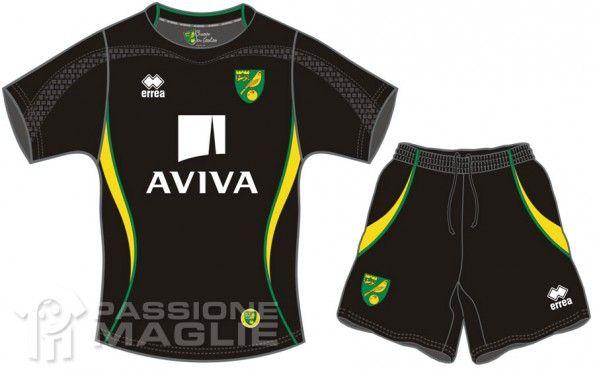 Disegno maglia trasferta Norwich City