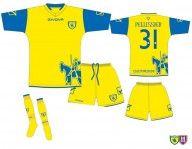 Disegno ufficiale maglia Chievo