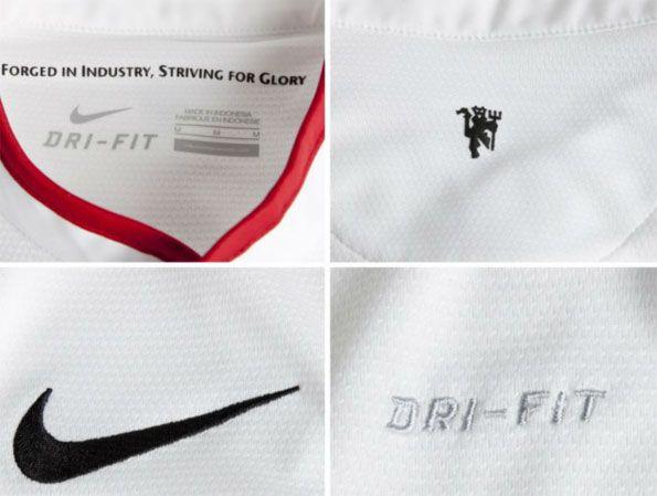 Dettagli maglia replica Manchester United away