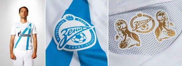 Dettagli della maglia bianca dello Zenit 2012-2013