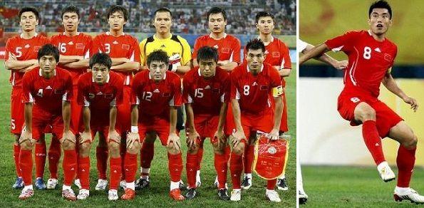 La nazionale di calcio cinese per le Olimpiadi di Pechino