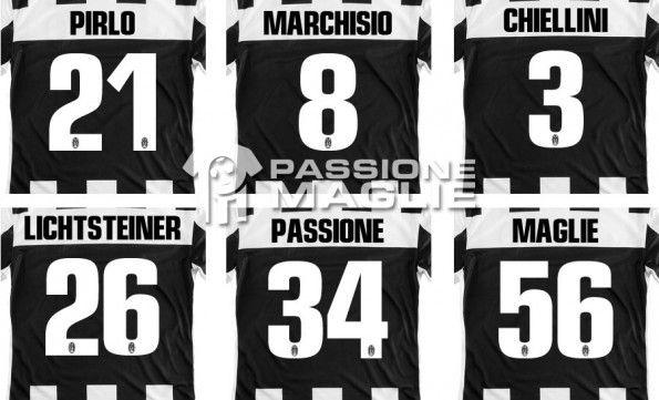 Nomi numeri Juventus 2012-2013
