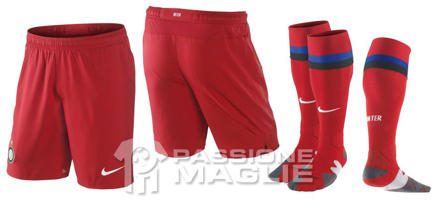 Pantaloncini e calzettoni rossi Inter 2012-2013