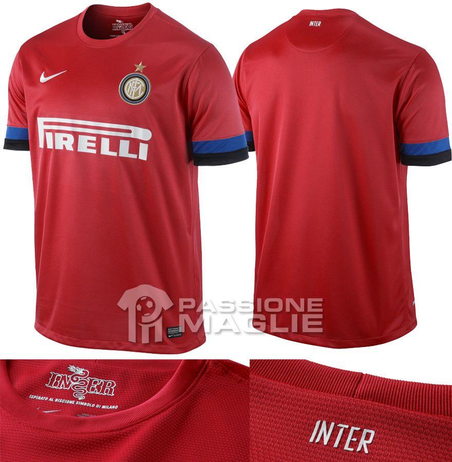 Inter seconda maglia rossa 2012-2013