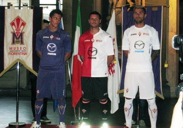 Behrami, Jovetic, Pasquale maglie Fiorentina