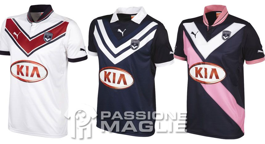 I kit del Bordeaux firmati Puma 2012-2013