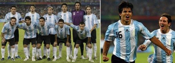 La divisa dell'Argentina alle Olimpiadi di Pechino 2008
