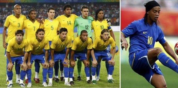 Le maglie del Brasile a Pechino 2008