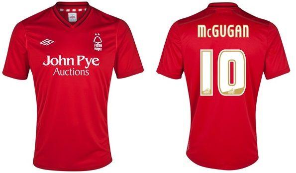 La maglia 2012-2013 del Nottingham Forest