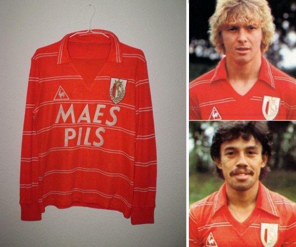 Le maglie Le Coq Sportif dello Standard Liegi anni '80