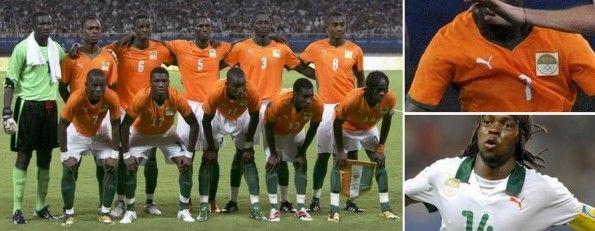 Le divise della Costa d'Avorio alle Olimpiadi 2008