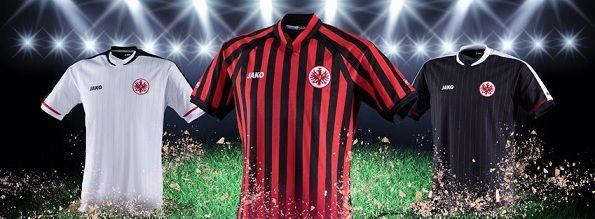 Le tre maglie Jako dell'Eintracht Francoforte 2012-2013