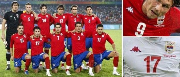 Le maglie della Serbia alle Olimpiadi del 2008