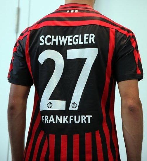 Retro della maglia dell'Eintracht 2012-2013