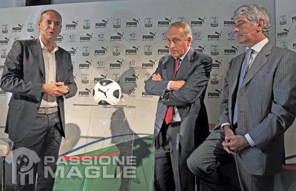 Rogg, Abodi e Abete presentano il pallone Puma