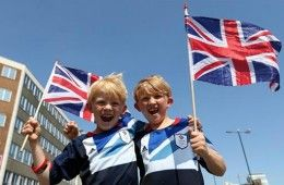 Bambini supporter Team GB
